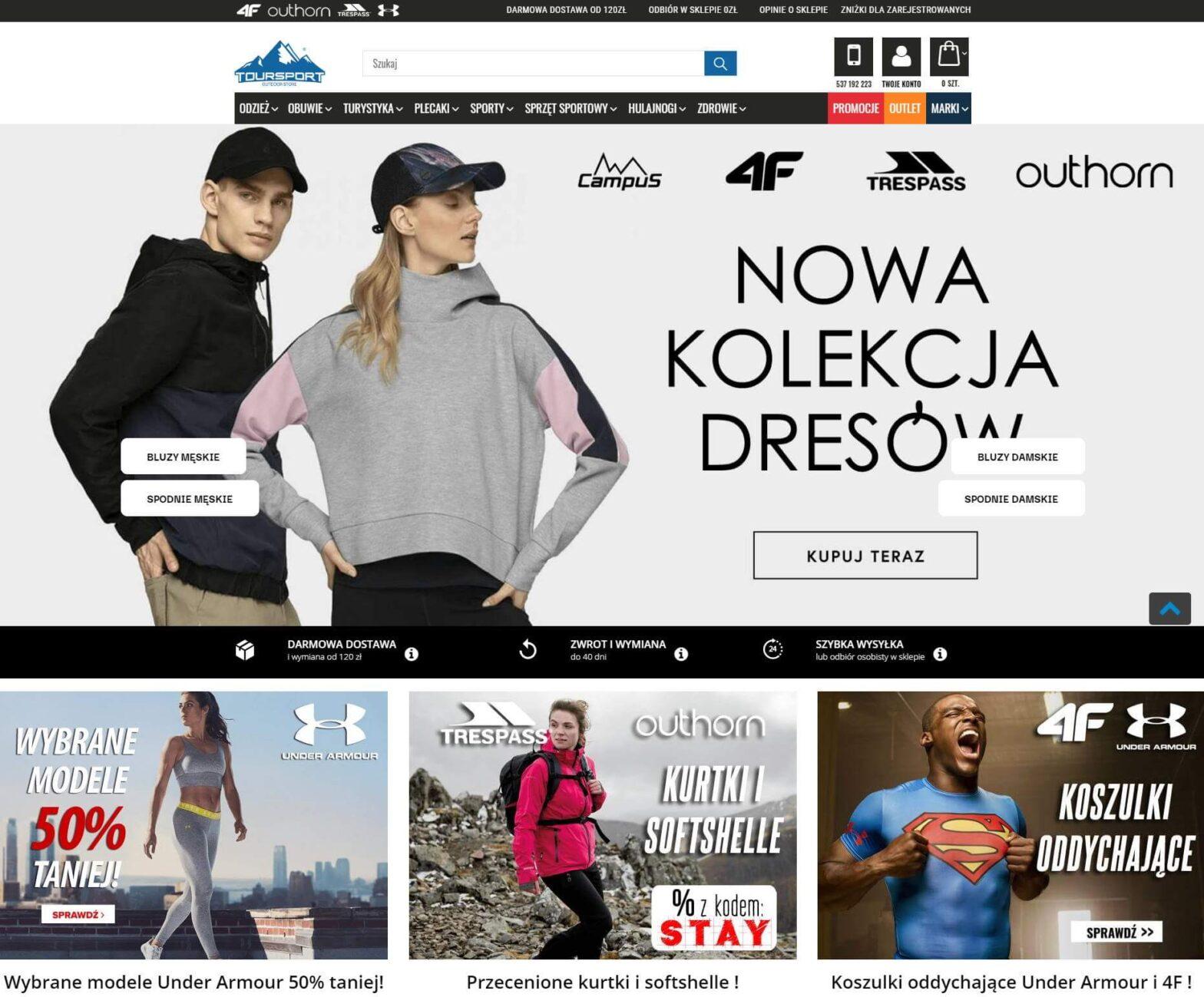 toursport.pl - Sprzęt sportowy, odzież sportowa, turystyka