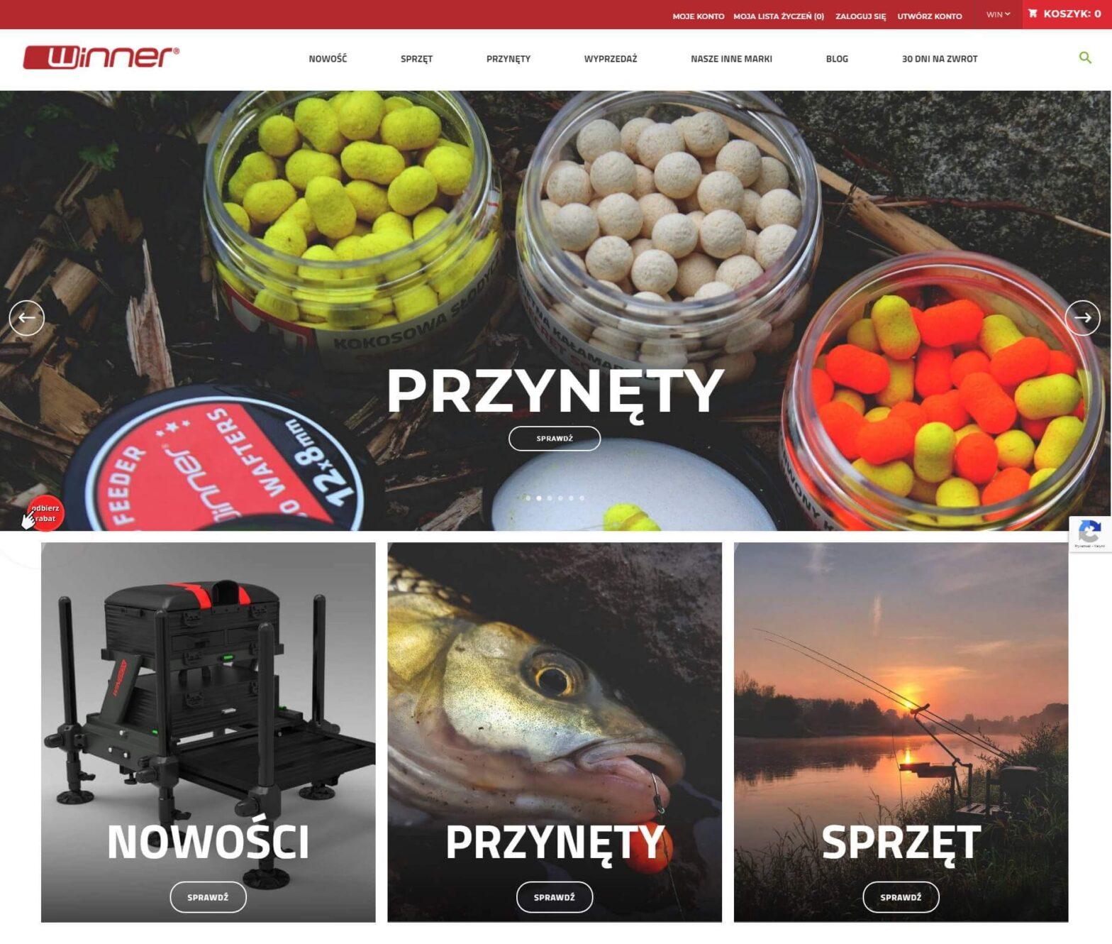winnerfishing.com - Każdy wędkarz coś tu znajdzie
